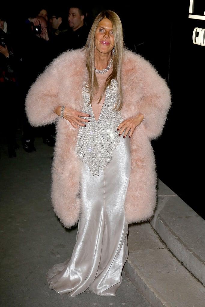 Anna Dello Russo at the Armani Privé Paris Haute Couture show.
