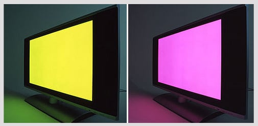 A DVD Turns a Drab TV Screen Into a Fab Light Installation