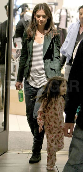 Pictures of Katie Holmes and Suri Cruise on the Set of Jack and Jill in LA