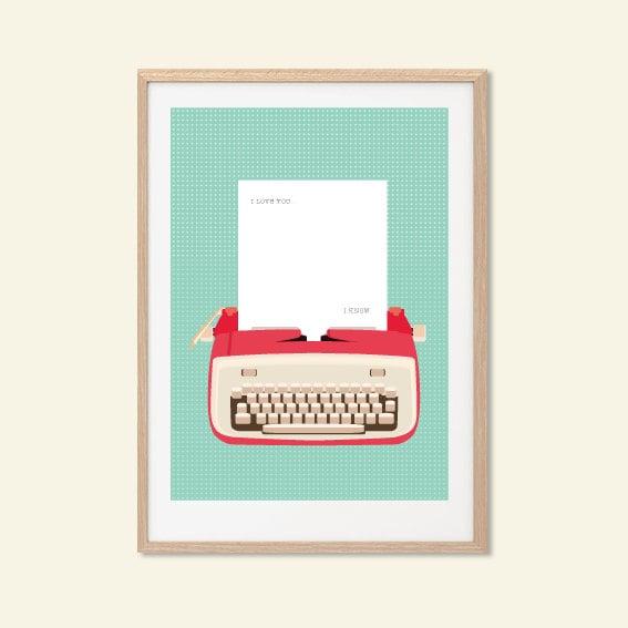 Typewriter Star Wars Poster