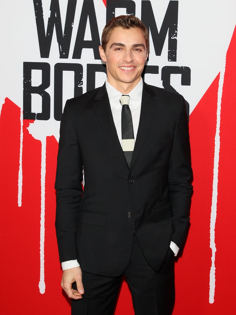 Dave Franco wore a suit to his premiere.