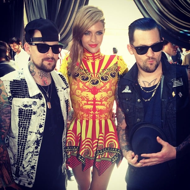 Ruby Rose caught up with Benji and Joel Madden at the ARIAs. Source: Instagram user rubyrose86