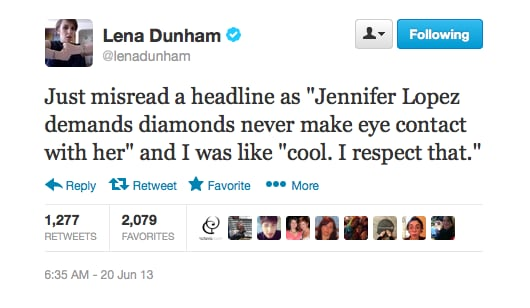 We're sure whatever the headline actually was, it wasn't as good as Lena's take.