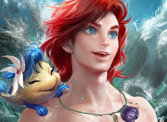 Gender-Flipped Disney Princesses