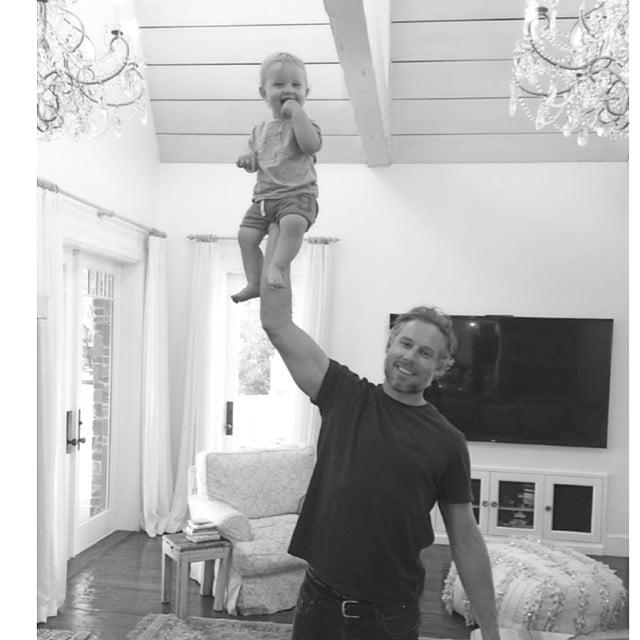 Eric Johnson held baby Ace in high regard. Source: Instagram user jessicasimpson