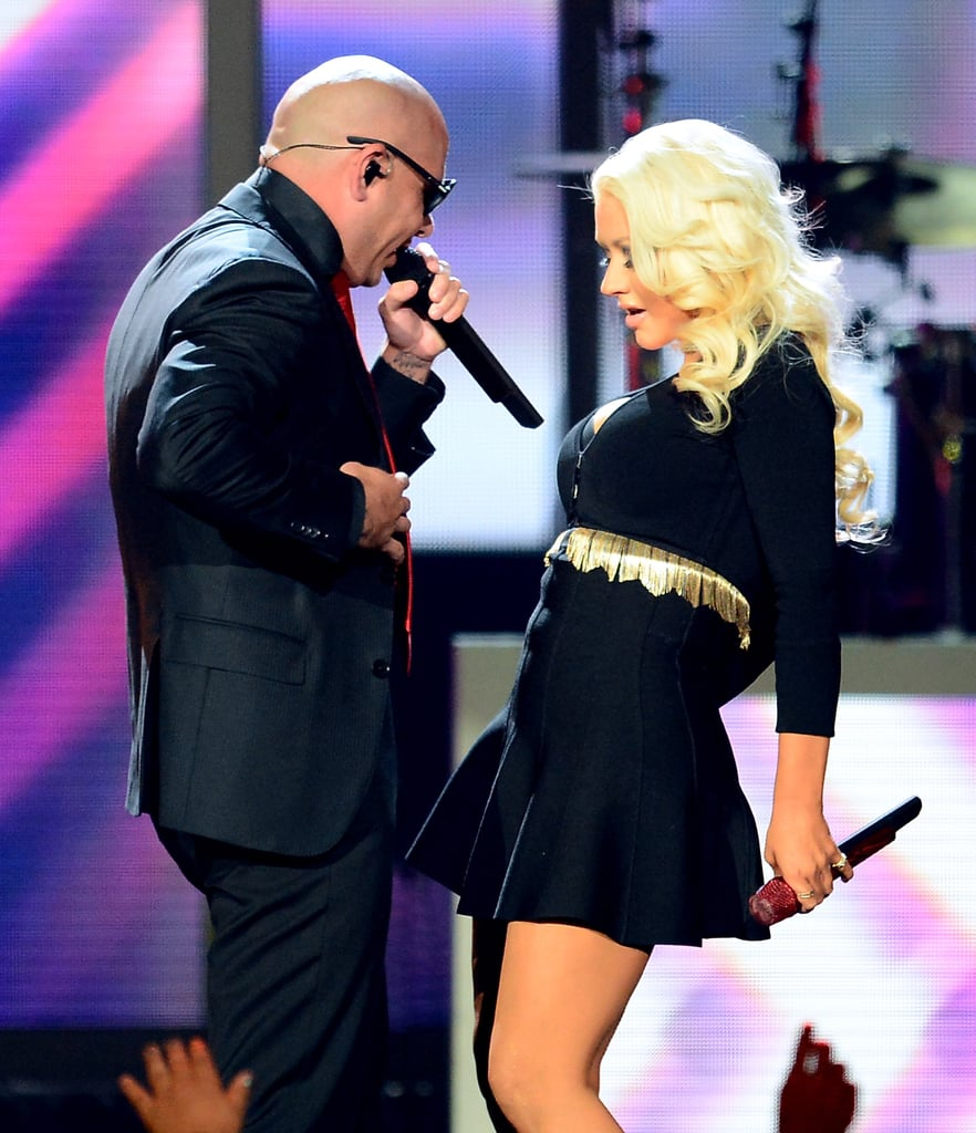 Christina Aguilera and Pitbull danced together during the Billboard Music Awards performance.