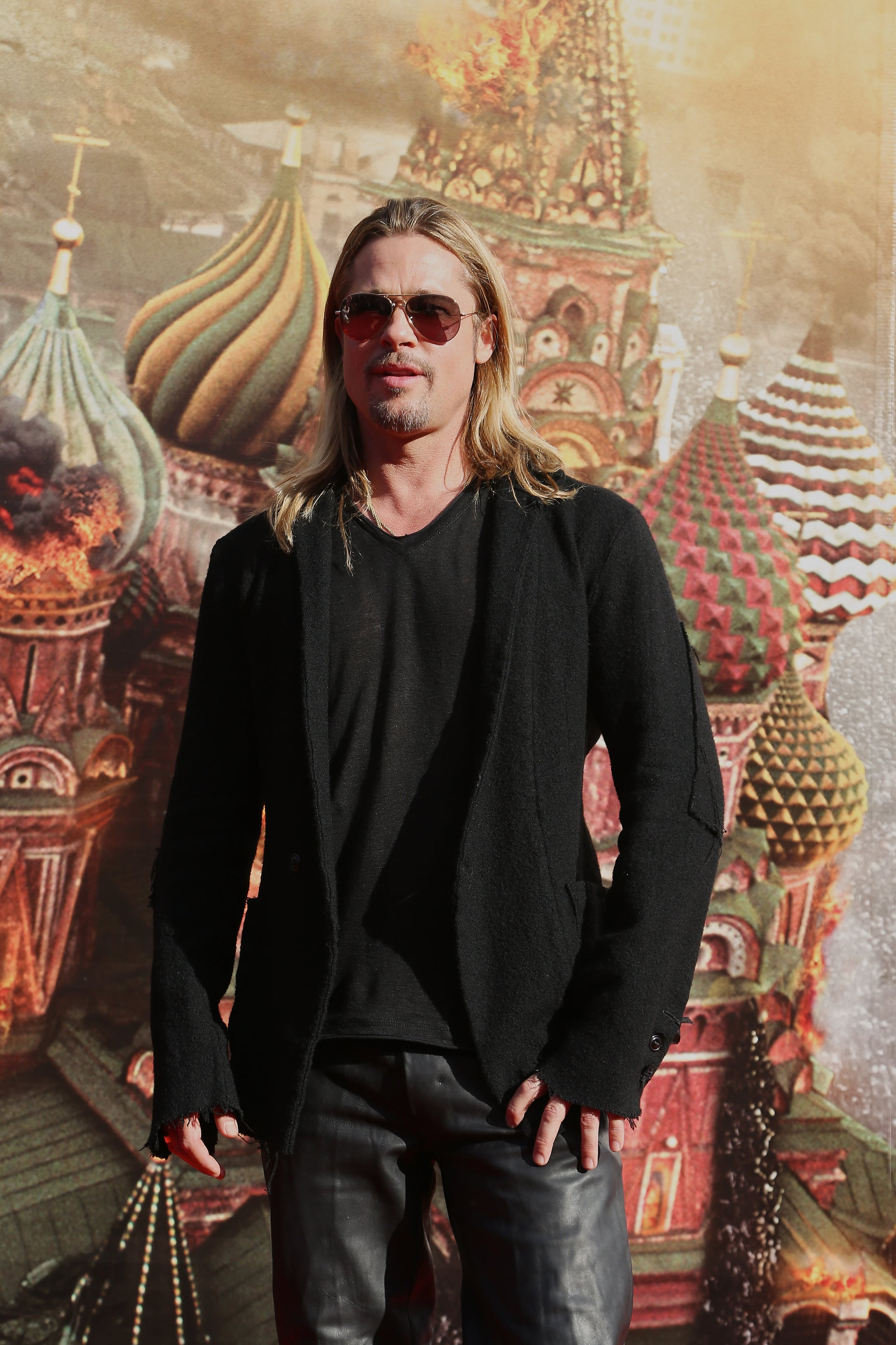 Brad Pitt attended the Moscow International Film Festival in Russia.