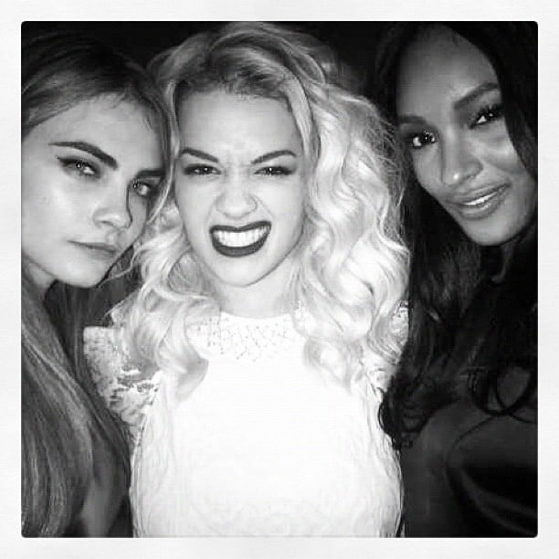 Stunning model Cara Delevingne shared this pic of herself with her close friends Rita Ora and Jourdan Dunn. Birds of a feather. . . Source: Instagram user caradelevingne