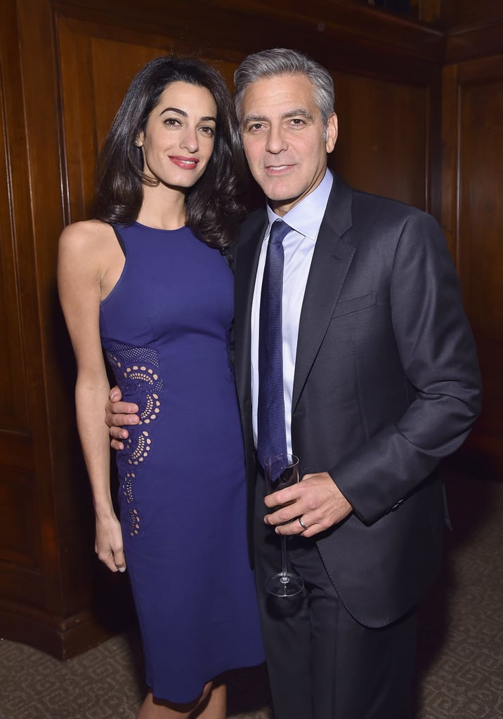 Amal Clooney Went With a Shift That Had Laser Cutouts — a Fancy Detail Perfect For a Big Event