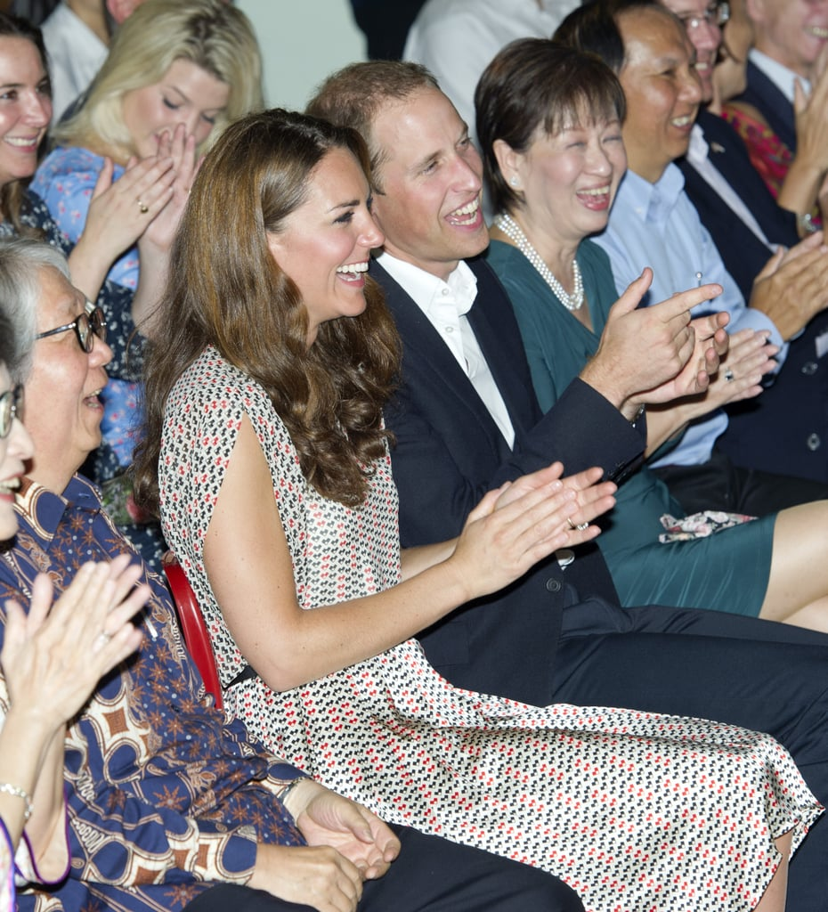 The pair laughed and applauded during their 2012 visit to the Rainbow Centre.