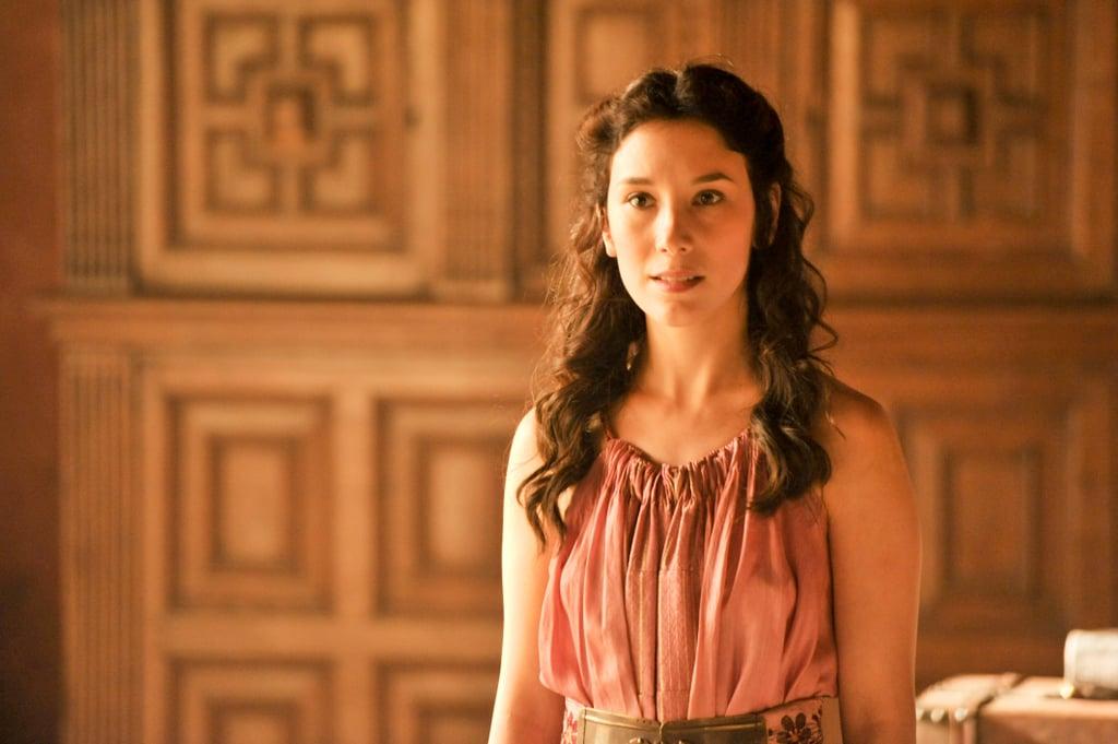 Shae is still attending to Sansa.
