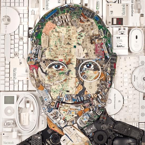 Steve Jobs Ewaste Portrait