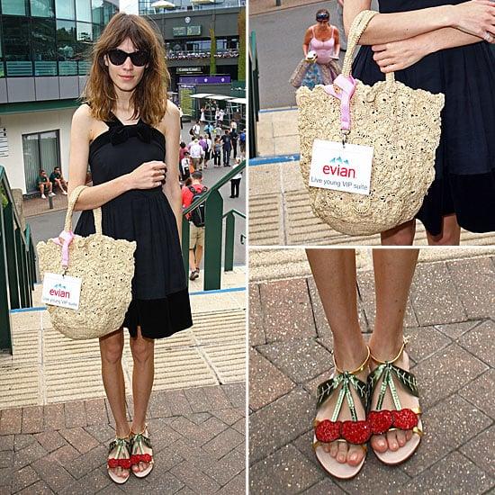 Alexa Chung Wearing Cherry Shoes