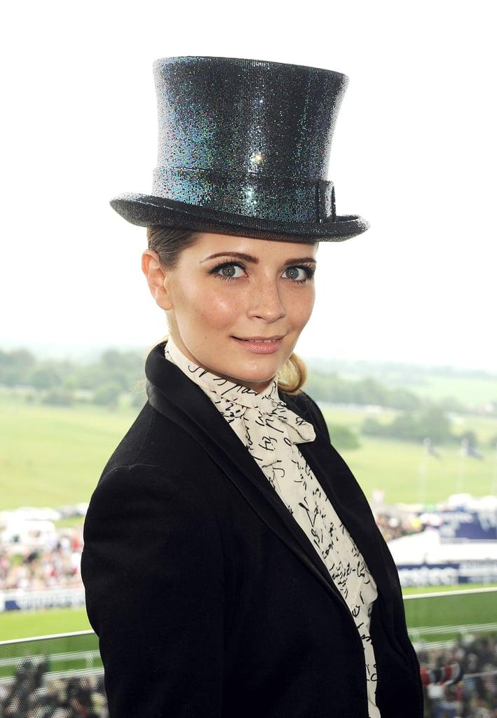 Mischa Barton looked dapper in her top hat.