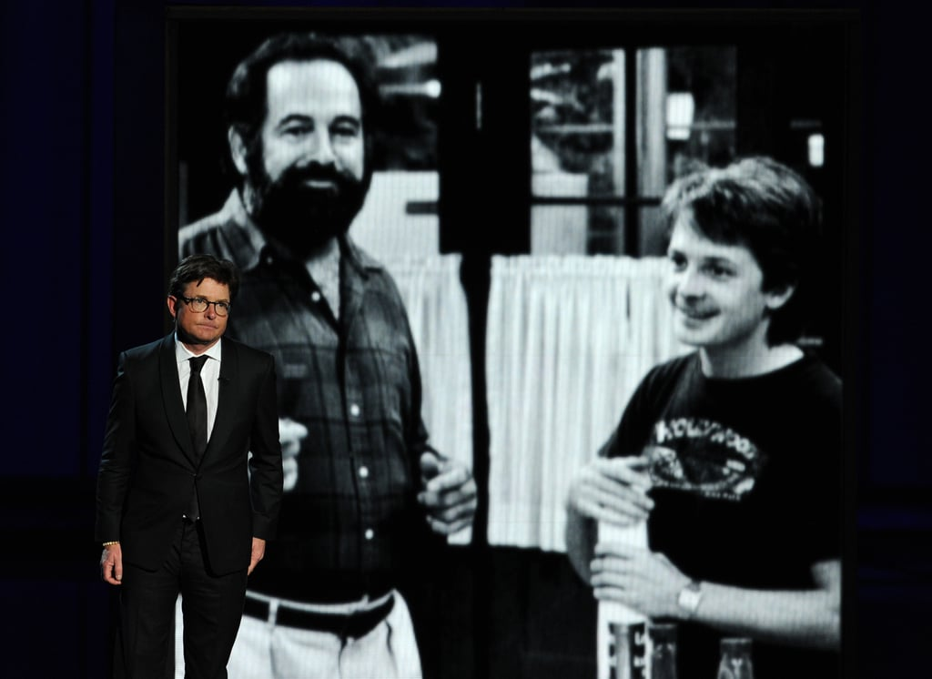 Michael J. Fox gave a touching tribute to Family Ties producer Gary David Goldberg, who passed away this year.