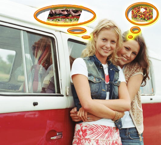 Road Tripping: Find the Food with Fewer Calories