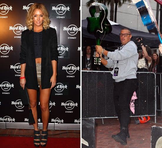 Celebrities Rock Out at Sydney's Hard Rock Cafe Opening