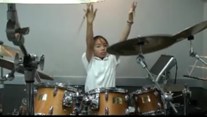 """13-Year-Old Badass Drummer Rocks Rush's """"YYZ"""""""