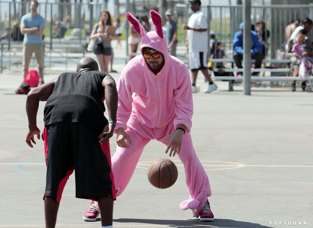 He Plays Basketball