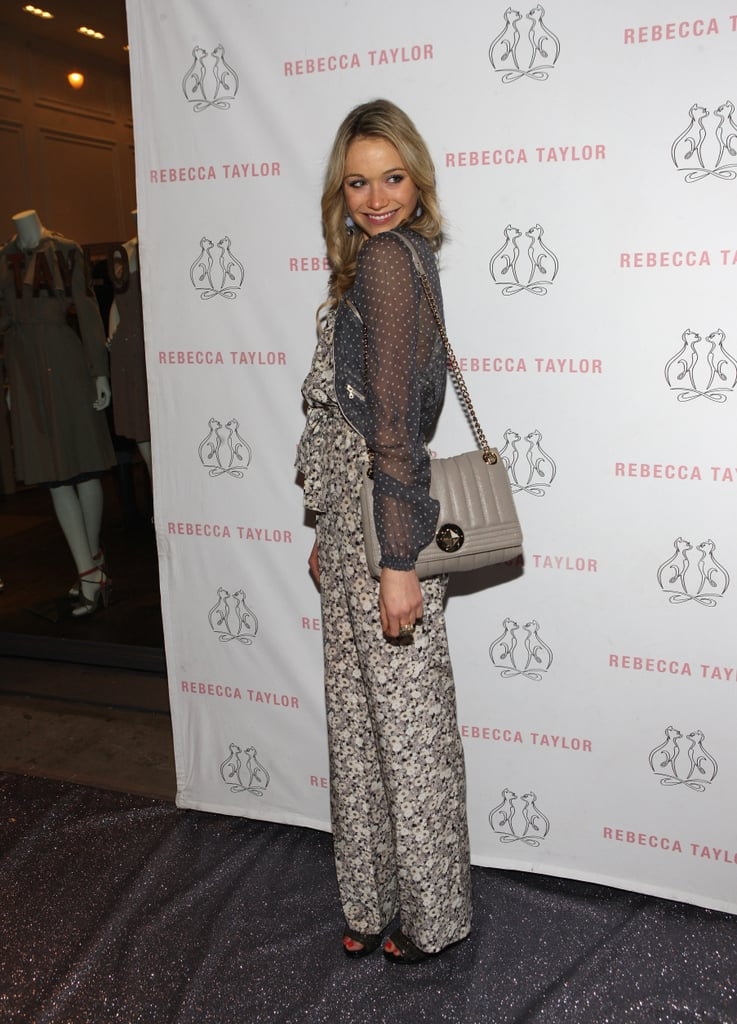 Katrina Bowden gave us a dose of Spring in a printed Rebecca Taylor jumpsuit.
