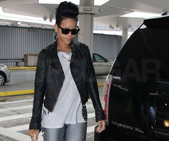 Photo Slide of Rihanna at NYC's JFK Airport