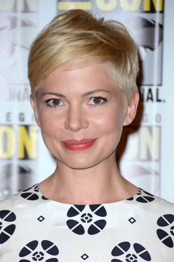 Michelle Williams flashed a smile at Comic-Con.