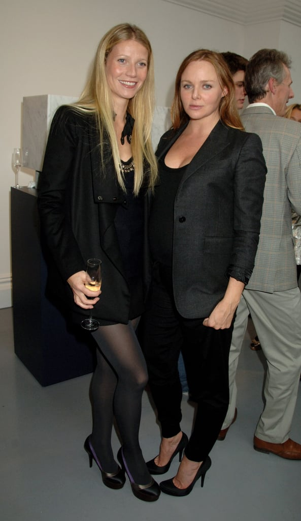 Gwyneth and a pregnant Stella both wore black to a London affair in October 2007.