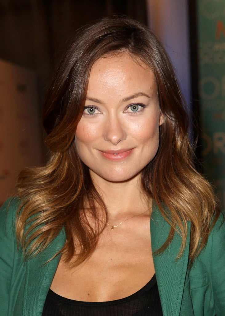 Olivia Wilde's golden highlights played up her cool-toned eyes and warm complexion at the Variety Studio at Holt Renfrew.