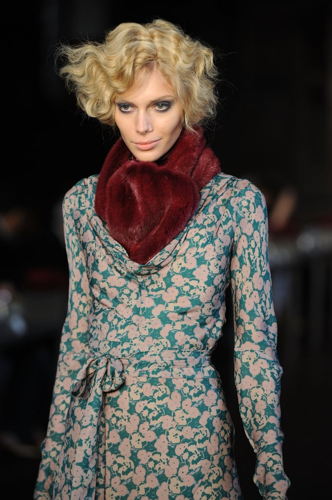 The '30s provided the inspiration for the fluffy bobbed curls worn by L'Wren Scott's models for Fall 2012.