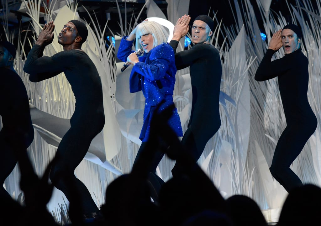 "Lady Gaga opened the show with a performance of ""Applause."""