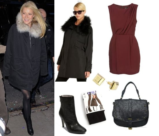 Pictures of Gwyneth Paltrow Wearing a Fur Coat