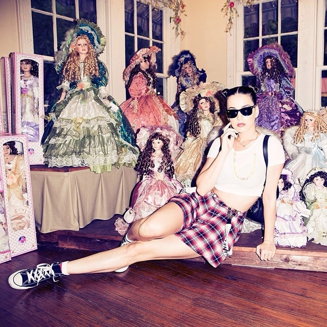 Katy Perry was surrounded by dolls. Source: Instagram user katyperry