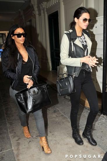 Kim Kardashian Reunites With Kendall Jenner in Paris