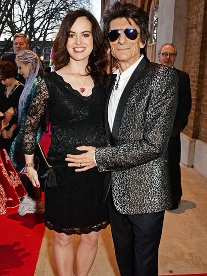 Ronnie Wood's Wife Shows Off Baby Bump at Rolling Stones Exhibition