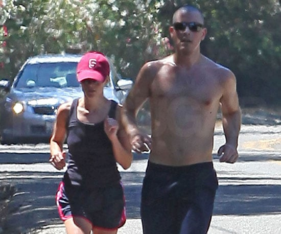 Slide Picture of Reese Witherspoon and Jim Toth Running in LA