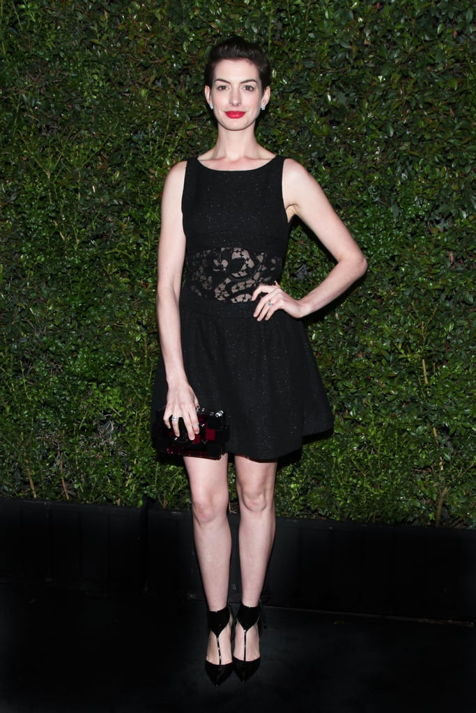 Anne Hathaway at Chanel's Pre-Oscars Dinner