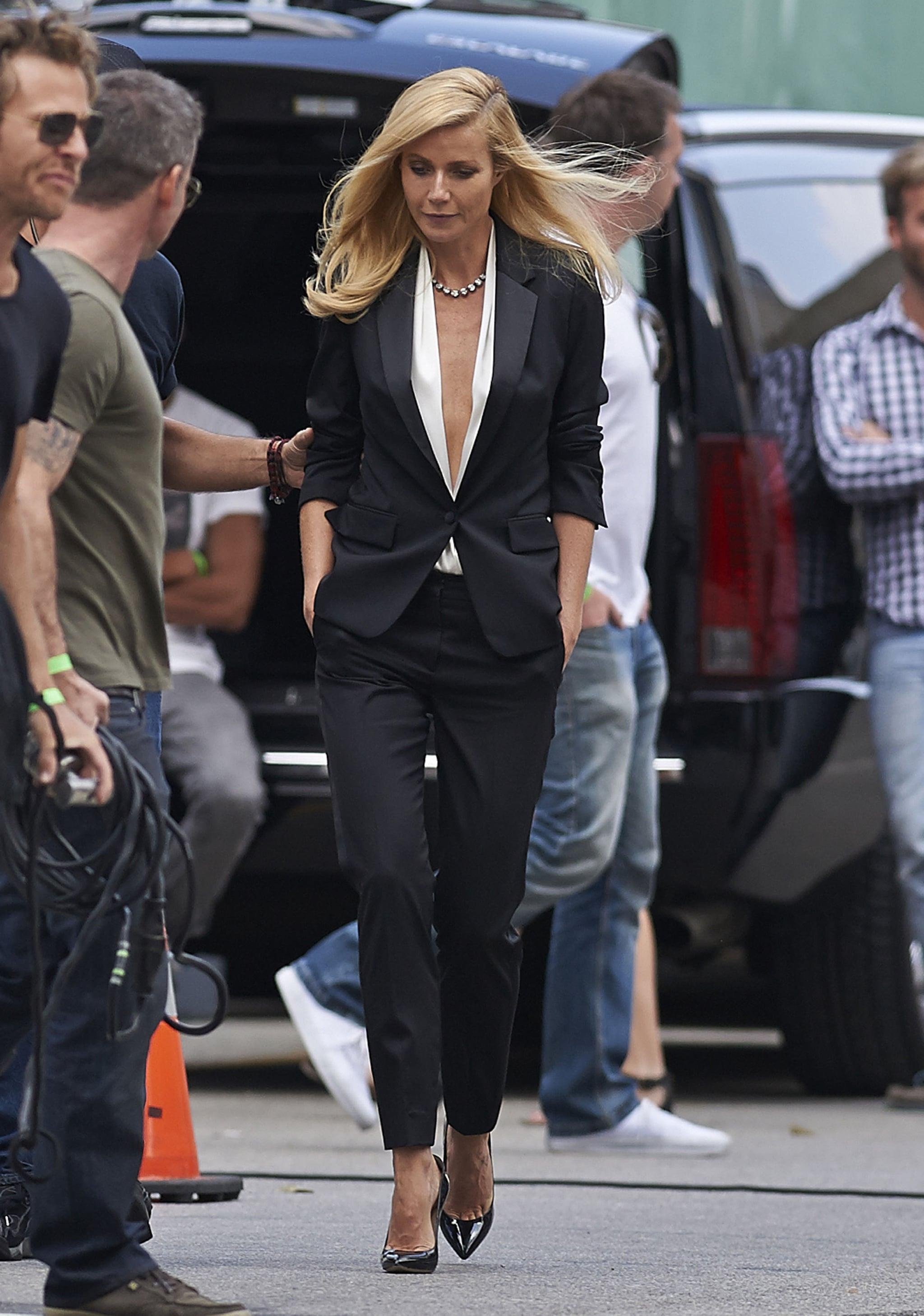 Gwyneth Paltrow filmed her new Hugo Boss ad in LA.