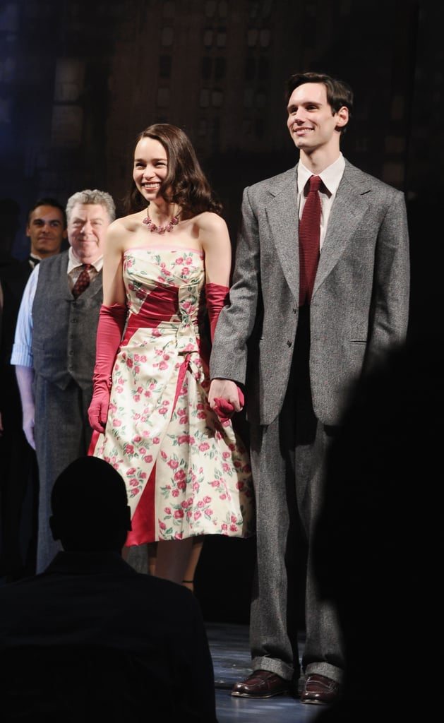 Emilia Clarke and Cory Michael Smith took a bow.