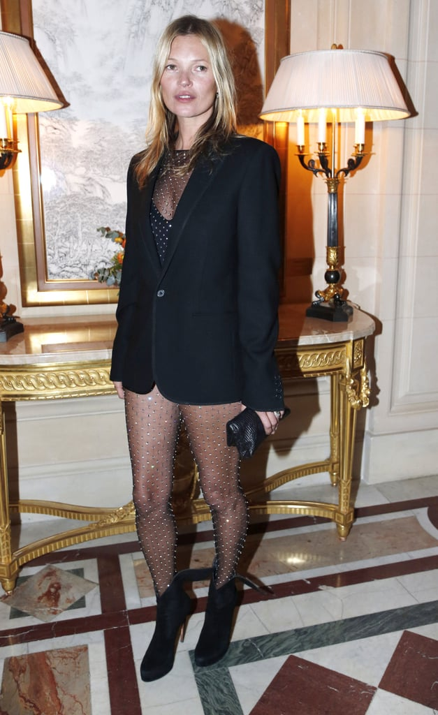 Kate Moss arrived at the CR Fashion Book Issue 2 launch party in Paris on Tuesday night.