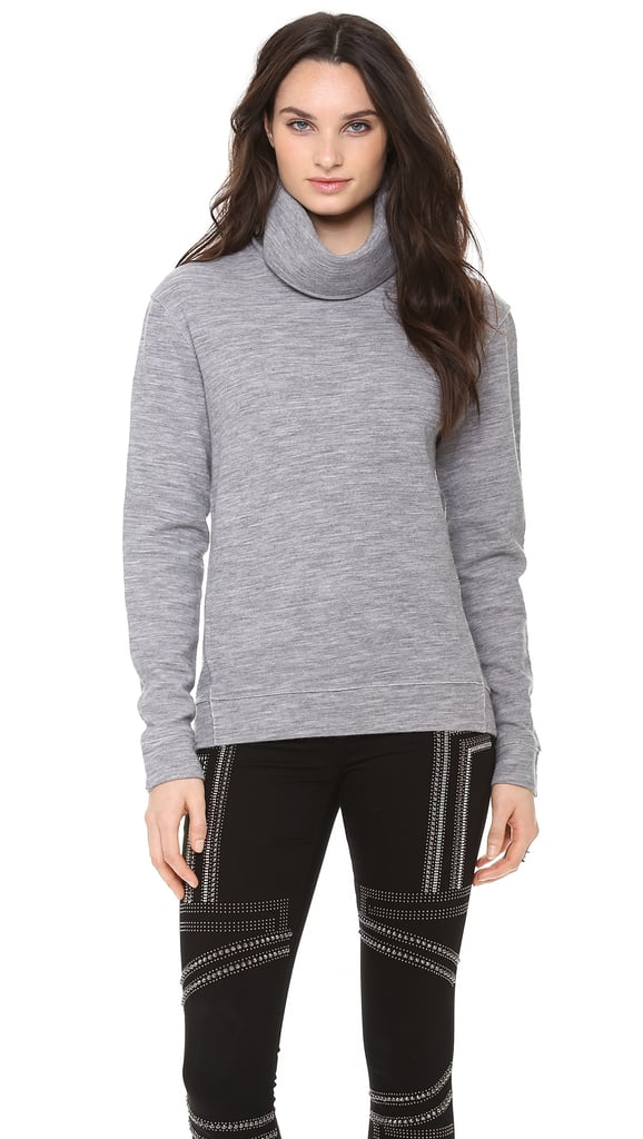 J Brand Gray Zhou Turtleneck Sweater