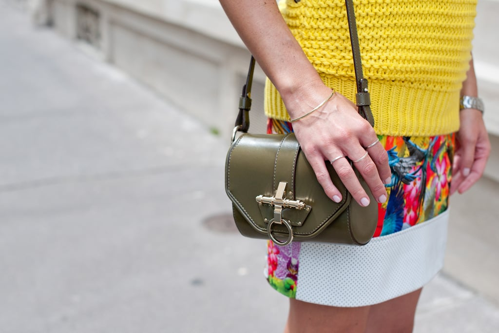 This army-green hue pops against Summer brights.