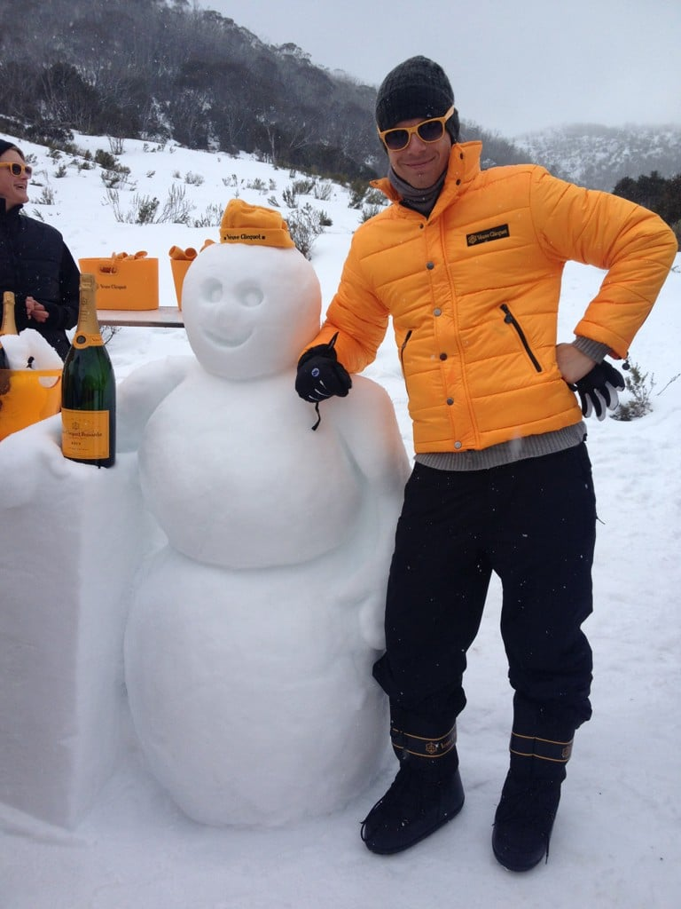 Luke Mitchell had a great time at Threadbo thanks to Clicquot in the Snow. Source: Twitter user LukeMitchell__