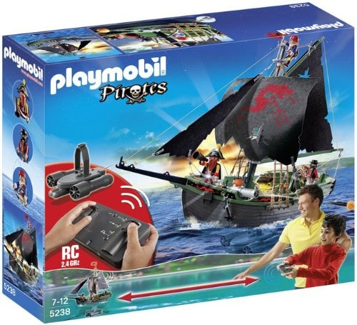 Playmobil Pirates Ship With Remote Control and Underwater Motor