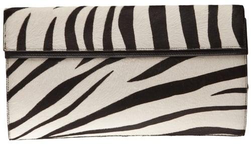 Alaïa Vault big zebra clutch