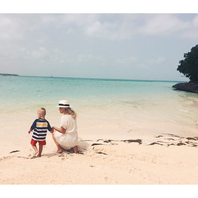 Reese Witherspoon spent the day at the beach with her son. Source: Instagram user reesewitherspoon