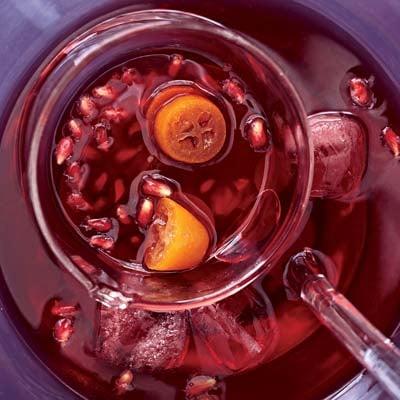 Kumquat-Pomegranate Punch Recipe