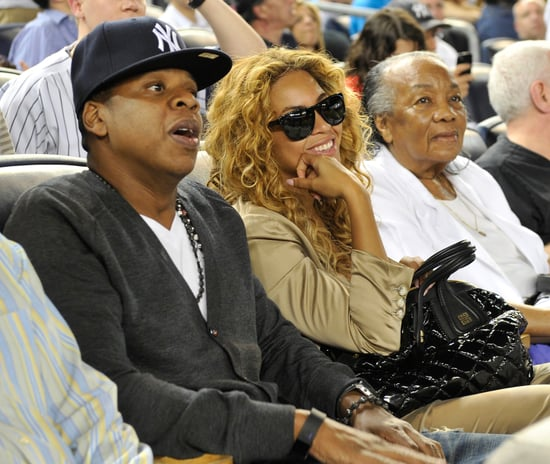 Pictures of Jay-Z And Beyonce Knowles at a Yankees Game With Gloria Carter in NYC