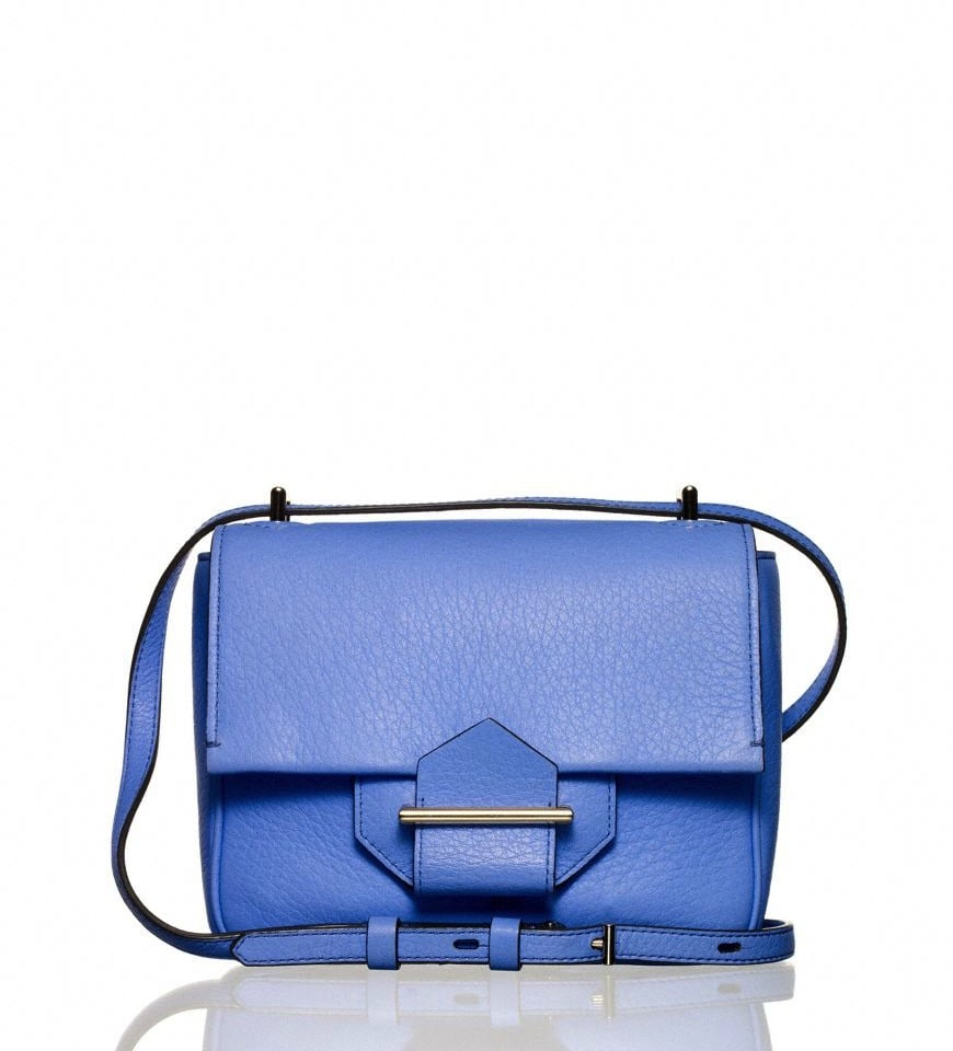This Reed Krakoff mini shoulder bag in Corsica ($590) is the perfect way to kick off Spring. The diminutive shape and cool blue hue will add a refreshing pop to all of my (future) Spring outfits. — Chi Diem Chau, Shopping editor