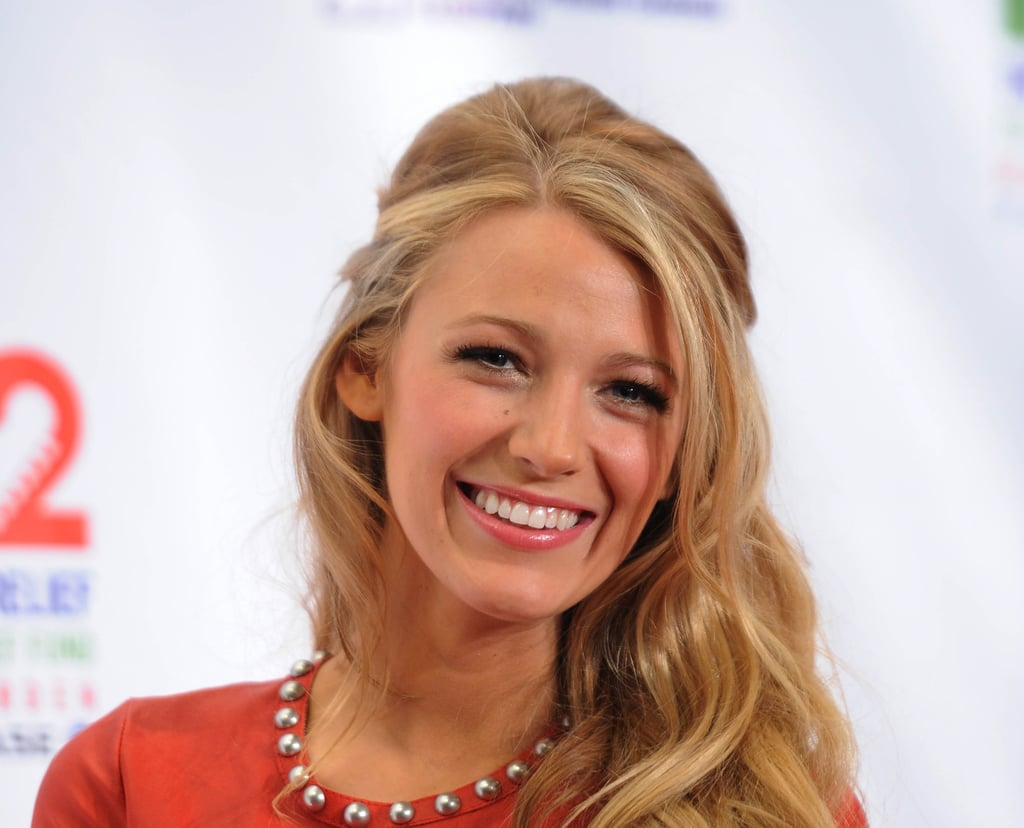 Blake Lively smiled while out in NYC.