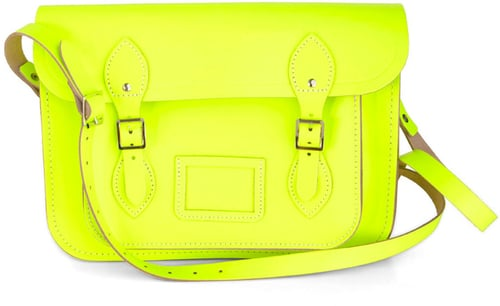The Cambridge Satchel Company Cambridge Satchel Upwardly Mobile Satchel in Neon Yellow - 13""